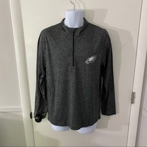 New Mens NFL Philadelphia Eagles Quarter Zip M